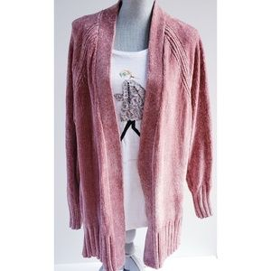 Chenille Super Soft Oversized Long Comfy Cardigan